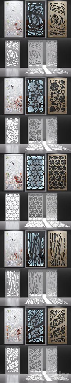 3d models: Other decorative objects - Set of decorative panels_07