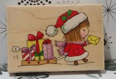 GIFT OF GIVING 4098K Mimi Christmas Presents Snow Sled Penny Black Stamp #C120 in Crafts, Stamping & Embossing, Stamps   eBay