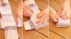 Have you been folding your socks the wrong way?  How to fold socks the correct way, so you never loose a sock again!