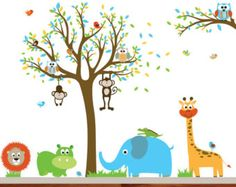 Kids Wall Decals, Nursery Wall Decals, Baby Wall Decals, Wall Decals for Nursery, Jungle Wall Decals