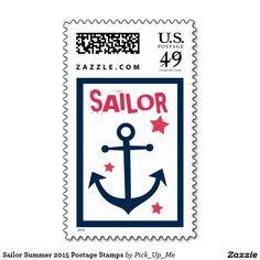 Sailor Summer 2015 Postage Stamps
