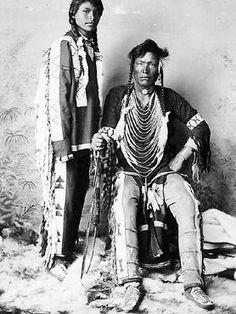 Cree man and his son - 1898