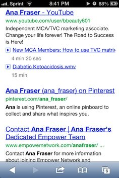 Google Me cough cough*** I have finally achieves my goal and made it to the first page of google. I am a blogger who provides valuable content daily. Please follow me on all my social networks. Please Checkout my blog! http://www.anafraser.blogspot.com Watch this FREE video It was almost a secret! http://ibourl.com/1b23  To earn money as a blogger please enter your email address to recieve the information needed. Please text 404-488-5558 to join and work with me directly. The next 5 people…