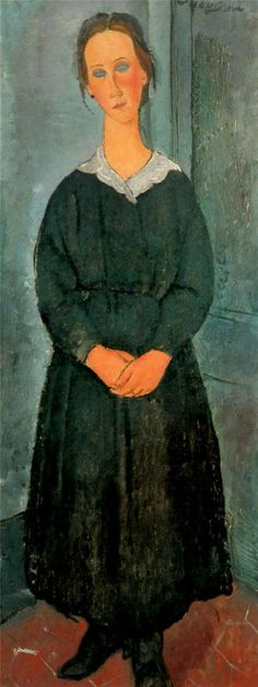 Amedeo Modigliani. Sirvienta, 1918. Óleo sobre lienzo. Albright-Knox Art Gallery, Buffalo, NY. WikiPaintings.org - the encyclopedia of painting