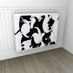 This is a monochrome twist and shout design - give your radiators some street cred!