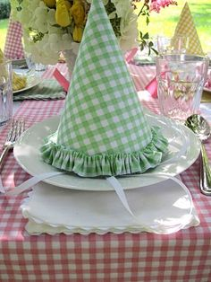 Gingham mix:  Love this for my little girls' birthday parties