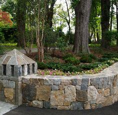 Park Landscape Design Stone Walls