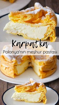 Karpatka Tarifi (Polonya'nın Meşhur Pastası) - Nefis Yemek Tarifleri Apple Pie, Czech Recipes, Russian Recipes, Apple Cobbler, Apple Tea Cake, Apple Pies