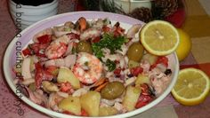 La buona cucina di Katty: Insalata di mare con verdure - Seafood salad with vegetables