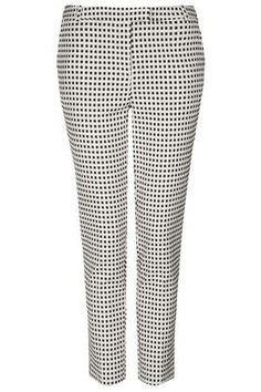Gingham Cigarette Trousers - Pants - Clothing