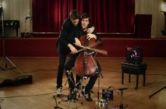 "COOL! Two guys playing ""Every Teardrop is a Waterfall"" by Coldplay on one cello!"