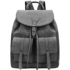 Grey Magnetic Flap Over Backpacks ($23) ❤ liked on Polyvore featuring bags, backpacks, backpack, romwe, grey, day pack backpack, knapsack bags, grey bag, gray backpack and grey backpack