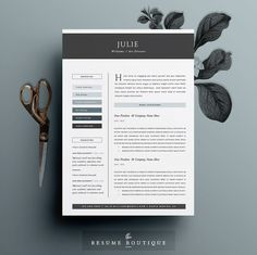 4pk Resume / CV Template  Cover Letter for MS by TheResumeBoutique