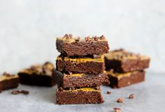 No-Bake Vegan Brownies | Finally, a brownie with benefits that you can feel good about eating. Our no-bake treats taste ultra decadent, yet are free of added sugar thanks to naturally sweet dates. Each vegan, gluten free brownie also boasts 6g fiber (about 25% of your daily recommended goal) and 6g of plant-powered protein. Enjoy them for dessert or as pre- or post-workout snack. Store in an airtight container in the refrigerator up to 1 week, or in the freezer up to 1 month.