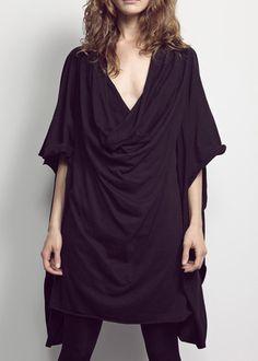 complex geometries — junction dress — black