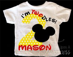 Im Twodles Birthday Shirt Mickey Mouse Birthday shirt Second birthday Boys birthday shirt Im Twoodles birthday - Jaxon Baby Name - Ideas of Jaxon Baby Name - I'm Twodles Birthday Shirt Mickey Mouse by OnceUponATwincess Mickey Mouse Birthday Shirt, Mickey Mouse Clubhouse Birthday Party, Mickey Party, Minnie Mouse, Toodles Mickey Mouse, Second Birthday Boys, 2nd Birthday Shirt, Boy Birthday Parties, Birthday Cakes