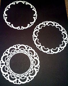 Great ways to use the doily sizzlit die.
