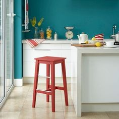 Combine contrasting primary colours for a cool, contemporary take on retro brights, like in today's Room We Love