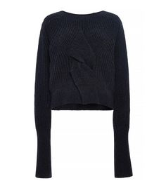 Misha Nonoo Jacinta Sweater // gorgeous folded sweater in navy