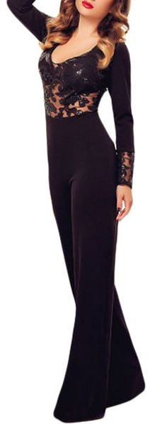 Tuta-nera-donna-tuta-maniche-lunghe-tuta-elegante-tuta-pantaloni-larghi