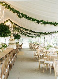 white tent wedding reception ideas with greenery decorations Luxury Wedding, Dream Wedding, Wedding Day, Chic Wedding, Wedding Tips, Wedding Parties, Wedding Scene, Wedding Church, Wedding Country