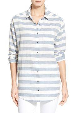 Caslon® Boyfriend Shirt (Regular & Petite) available at #Nordstrom