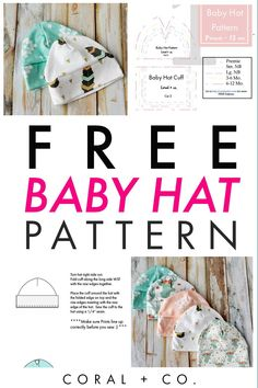 Learn how to sew an adorable baby hat the easy way with this sewing tutorial complete with a free pdf sewing pattern download, step-by-step photos and a video!