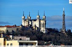 Notre-Dame de Fourvière et Tour métallique (Lyon, Rhône-Alpes)