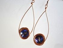 Swarovski Crystal and Copper Earrings - Creations by Jerilyn $18.00