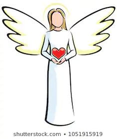 Find Illustration Stylized Angels Holding Red Heart stock images in HD and millions of other royalty-free stock photos, illustrations and vectors in the Shutterstock collection. Angel Images, Angel Pictures, Christmas Angels, Christmas Art, Angel Drawing Easy, Angel Vector, Rock Painting Designs, Christmas Drawing, Angel Art