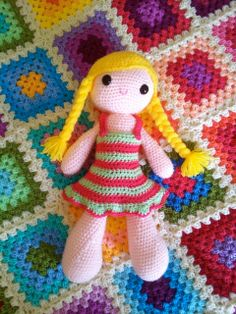 PDF Pattern for a gorgeous crochet dolly by CoolGirlsCrochet, £3.50