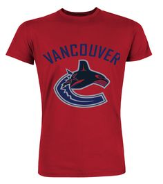 Vancouver Canucks Hockey (Premium Round Neck T-Shirt Unisex - Red) #quotes #women #running hockey quotes, hockey diy, hockey sur glace, back to school, aesthetic wallpaper, y2k fashion