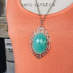 Long Pendant Necklace Brand new!  Lovely piece. Jewelry Necklaces