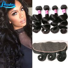 Lace Frontal Closure With Bundles Loose Wave Lace Frontal 4 Bundles With Frontal Closure Peruvian Lace Frontals With Baby Hair(China (Mainland))
