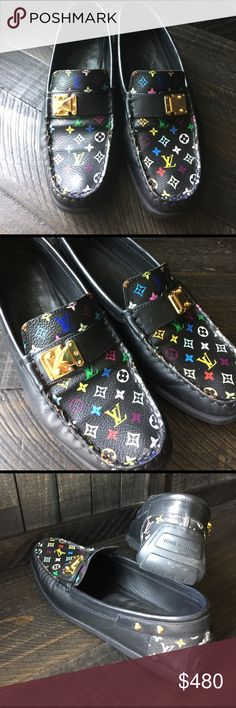 LV Multi-color Loafers 37 LV Loafers Louis Vuitton Shoes Flats & Loafers