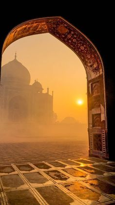 This is the Taj Mahal at sunrise. The Taj Mahal is an ivory-white mausoleum on the south bank of the Yamuna river. Oh The Places You'll Go, Places To Travel, Places To Visit, Travel Destinations, Travel Tips, Holiday Destinations, Travel Ideas, Travel Goals, Travel Packing