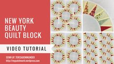 Video tutorial: Easy New York Beauty quilt block