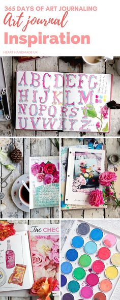 Inspiration For Your Art Journal - a collaborative art journaling project with Annetta Bosakova and Stephanie Dahls Rud. Perfect art journal ideas and inspiration
