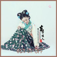 Que Ta Zhi Ancient Chinese Hanfu Women Photography Costume Spring Exhibition Costume Hanfu for Women