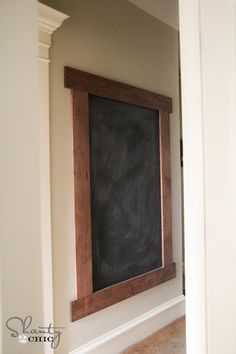 Chalkboard Wall DIY...adding this to the living room/entryway/ stairs. For guests and kids to put prayer requests.