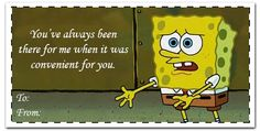 spongebob valentine day cards