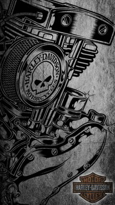 Harley Davidson Logo, Harley Davidson Kunst, Harley Davidson Engines, Harley Davidson Tattoos, Harley Davidson Pictures, Harley Davidson Wallpaper, Harley Davidson Motorcycles, Yamaha Motorcycles, Motos Harley