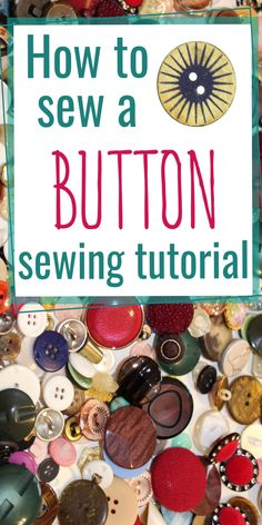 Looking for sewing tips on how to sew a button easily and quickly? Learn how to sew a button on pants, on a shirt, on a headband, on a coat, on jeans by hand with my step-by-step sewing tutorial. Actually, sewing on a 4-hole or 2-hole button is one of the simplest sewing techniques. Check out also how to sew a shank button. #sewingtutorials #easysewingprojects #beginnersewingprojects