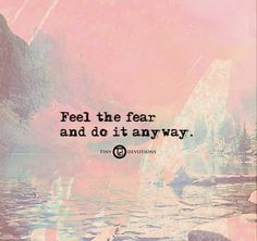 Feel the fear and do it anyway.  http://shop.lovetinydevotions.com    #quotes…