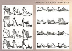 The House of Resplendence (sources of natural light). Womens Footwear for Spring/Summer 2015.  Initial design - Diurnal Resplendence.