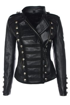 Napoleon (Oil black) – Leather Jackets, Mens, Womens Biker & Military Leather Jackets