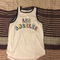 LA Tank Los Angeles print top. Never worn. New with tags. NOT BRANDY. Brandy Melville Tops Tank Tops