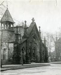 vintage building cemetery