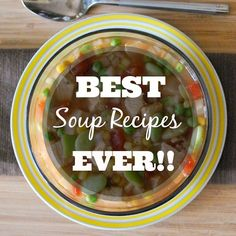 Fall is here! Time for soup. The Greatest Soup Recipes Ever!! Crockpot friendly!
