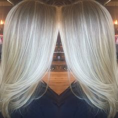 Icy blonde hilights on a natural base